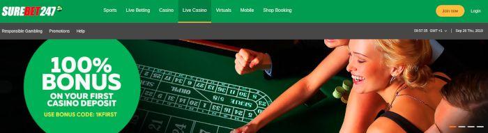 SureBet247 live casino